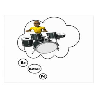 Carte Postale je jouerais plutôt les tambours 7