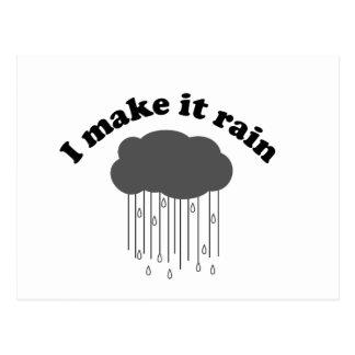 Carte Postale Je le fais pleuvoir
