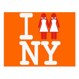 CARTE POSTALE JE ME SUIS MARIÉ DANS LES FEMMES DE NY - .PNG