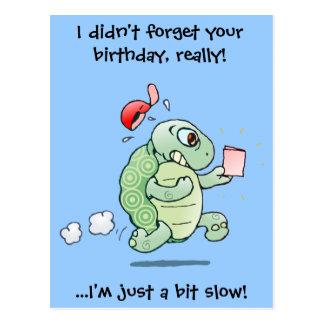 Carte Postale Je n'ai pas oublié votre anniversaire, vraiment !