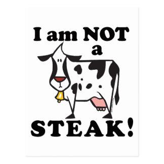 Carte Postale Je ne suis pas les droits des animaux d'un bifteck