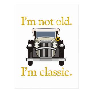 Carte Postale Je ne suis pas vieux. Je suis classique.
