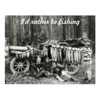 Carte Postale Je pêcherais plutôt !