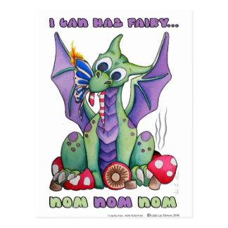 Carte Postale Je peux dragon mignon de bébé de la fée NOM NOM