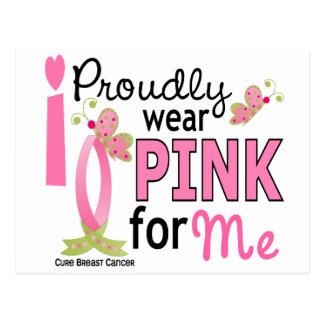 Carte Postale Je porte le rose pour moi le cancer du sein 27