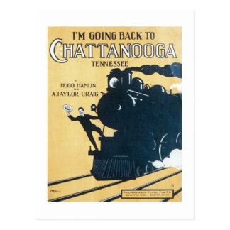 Carte Postale Je retourne au Songbook C de Chattanooga Tennessee