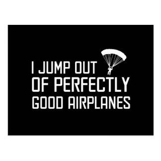Carte Postale Je saute des avions parfaitement bons