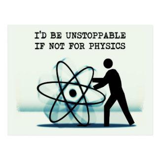 Carte Postale Je serais imparable sinon pour la physique