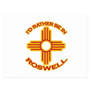 Carte Postale Je serais plutôt dans Roswell