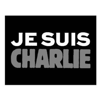 Carte Postale Je Suis Charlie - je suis noir de Charlie