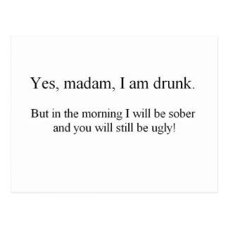 Carte Postale Je suis ivre mais… (St.K)