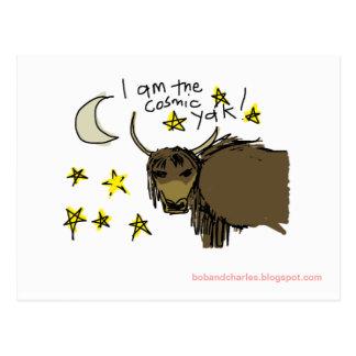 Carte Postale Je suis le yak cosmique