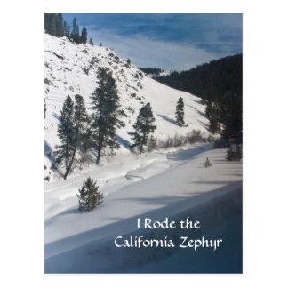 Carte Postale Je suis monté le zéphyr de la Californie