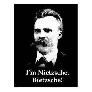 Carte Postale Je suis Nietzsche, Bietzsche !