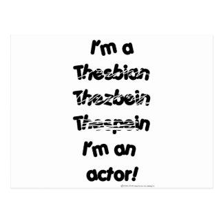 Carte Postale Je suis un acteur (pour les produits de couleur