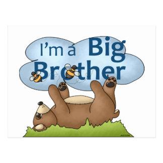 Carte Postale Je suis un ours de frère