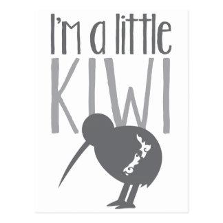 Carte Postale Je suis un petit kiwi avec l'oiseau mignon de la