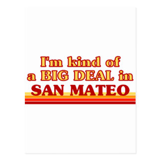 Carte Postale Je suis un peu une AFFAIRE dans San Mateo