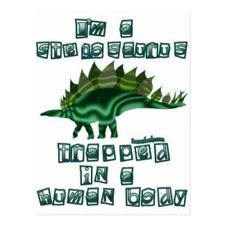 Carte Postale Je suis un Stegosaurus