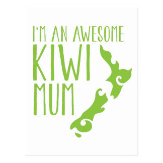 Carte Postale Je suis une MAMAN Nouvelle Zélande de KIWI