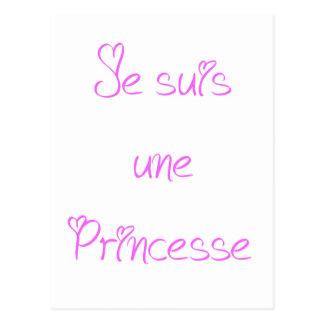 Carte Postale Je suis une princesse