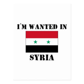 Carte Postale Je suis voulu en Syrie