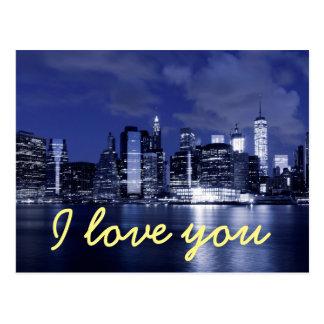 Carte Postale je t'aime de New York