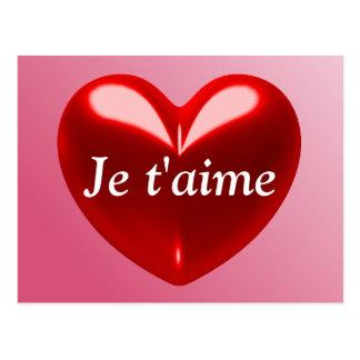 Carte Postale JE T'AIME - JE T'AIME (Français)