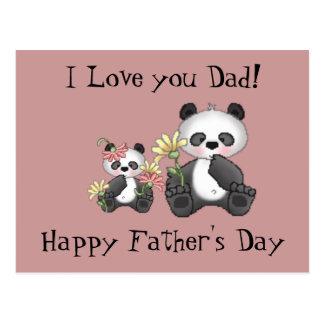 Carte Postale Je t'aime papa ! Fête des pères heureuse