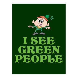 Carte Postale Je vois les personnes vertes