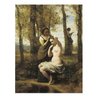 Carte Postale Jean-Baptiste-Camille Corot la toilette