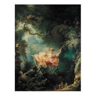Carte Postale Jean-Honore Fragonard- l'oscillation