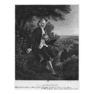 Carte Postale Jean-Jacques Rousseau composant 'Emile