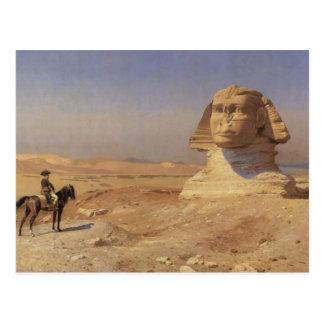 Carte Postale Jean-Léon Gerome- Bonaparte avant le sphinx