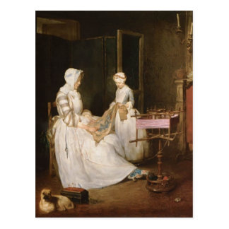 Carte Postale Jean-Simeon Chardin- la mère de fonctionnement