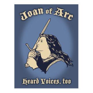 Carte Postale Jeanne d'Arc a entendu des voix