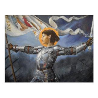 Carte Postale Jeanne d'Arc avec la bannière