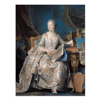 Carte Postale Jeanne Poisson le marquis de Pompadour, 1755