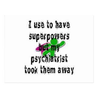 Carte Postale J'emploie pour avoir les superpuissances