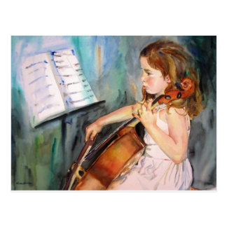 Carte Postale J'entends un symphonie
