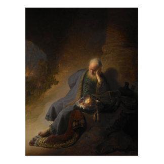 Carte postale Jérémie Jérusalem Rembrandt