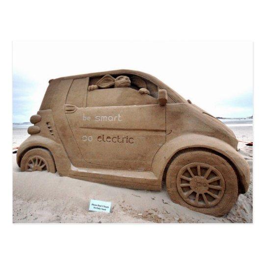 Carte Postale Jersey - Smart Car Sand Castle