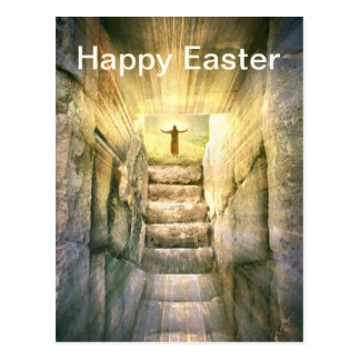 Carte Postale Jésus à la résurrection vide de Pâques de tombe