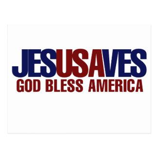 Carte Postale Jésus économise