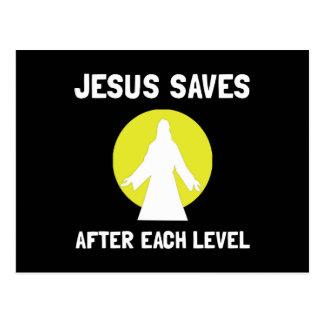 Carte Postale Jésus économise de niveau