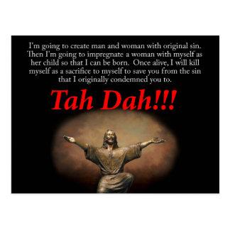 Carte Postale Jésus.  Tah Dah ! ! !