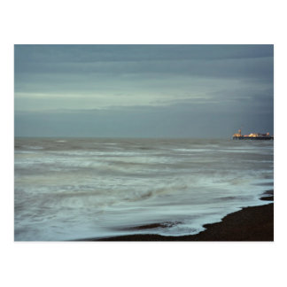 Carte Postale jetée et mer de Brighton