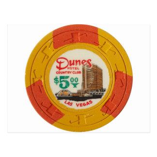 Carte Postale Jeu de casino de jeton de poker de Las Vegas