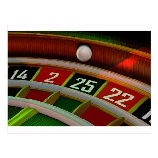 Carte Postale Jeu de casino de Rulet de roulette