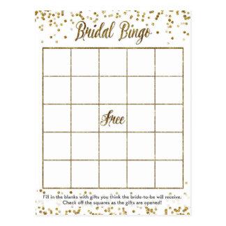 Carte Postale Jeu nuptiale de douche de bingo-test de confettis